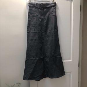 boho steampunk black denim maxi, size 8 tall